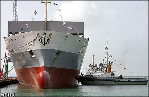 اولین کشتی کانتینربر ایرانی