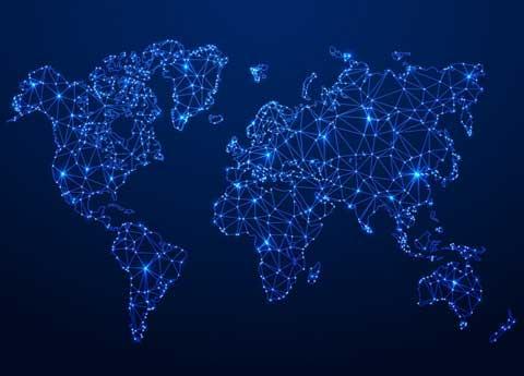 نقشه دیجیتالی دنیا